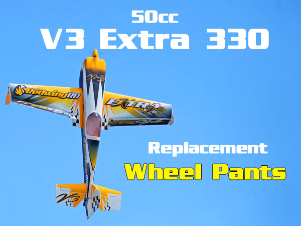 50cc V3 Yellow Extra 330 Replacement Wheel Pants