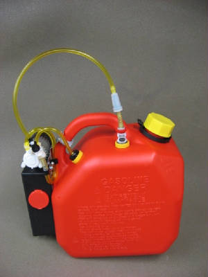 2 Gallon Red Gas Fuel Tank with Electric Pump